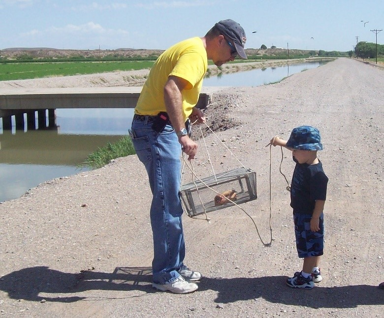 steven campbell and his father fishing