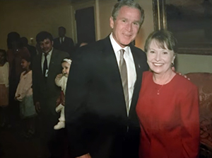 Diane Simone with George W. bush