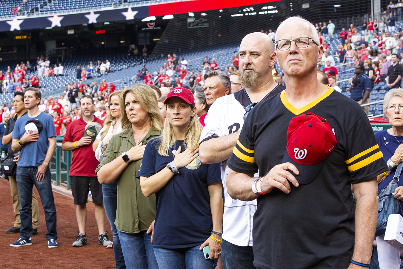 honorees get a standing ovation at nats park
