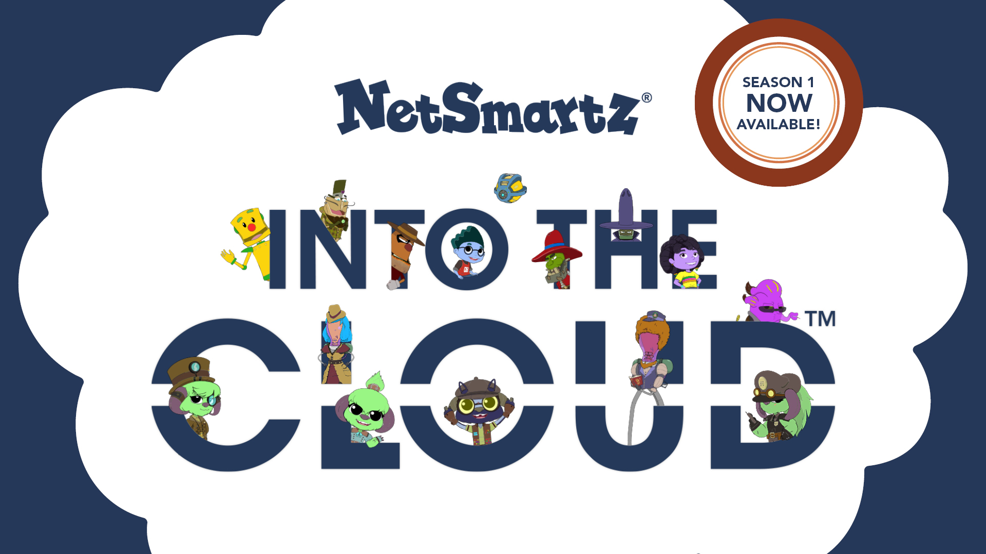 Into the Cloud logo with characters